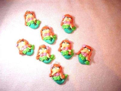 UN CIONDOLO A SCELTA      -dalla serie una favola da indossare ARIEL la sirenetta    - FIMO  charms per orecchini, braccialetti, collane, portachiavi