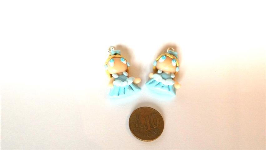 UN CIONDOLO A SCELTA      -dalla serie una favola da indossare   CENERENTOLA      - FIMO  charms per orecchini, braccialetti, collane, portachiavi
