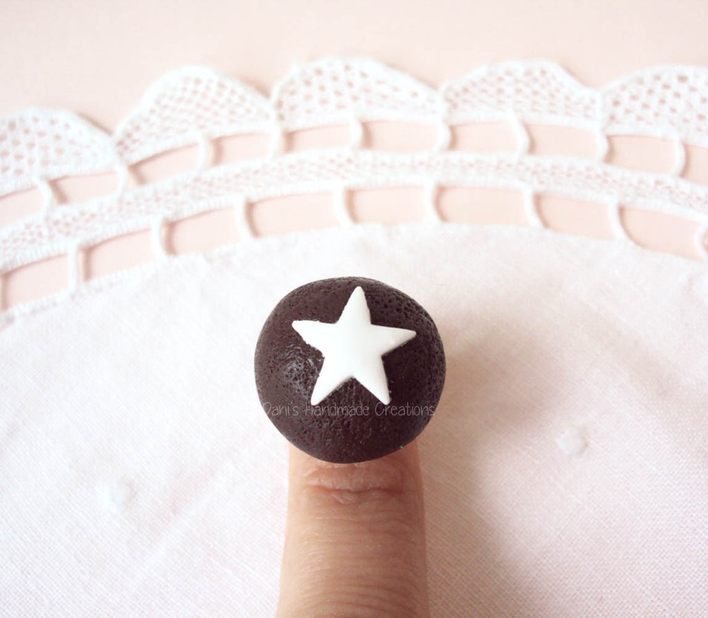 Anello mooncake in fimo