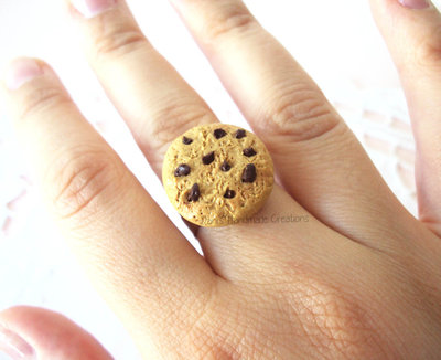 Anello biscotto cookie in fimo