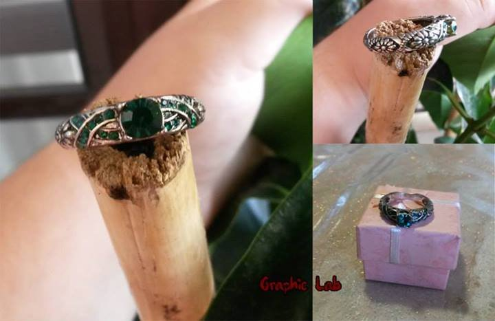 Anello in Argento Slytherin Serpeverde Harry Potter