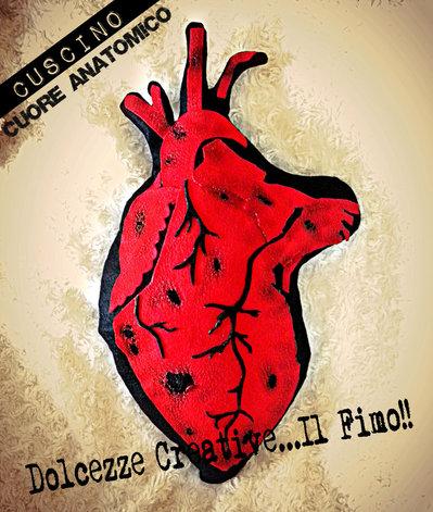 Cuscino Cuore Anatomico Heart Anatomic horror emo goth extreme pastel goth idea regalo
