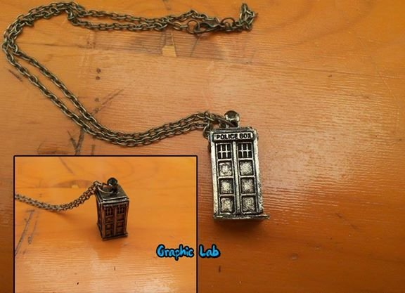 Collana con Tardis in Bronzo Doctor Who