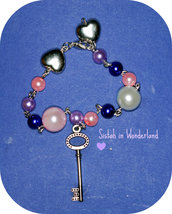 Bracciale Violet and pink Keys&Hearts