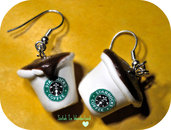 Starbucks earrings