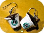 Starbucks earrings