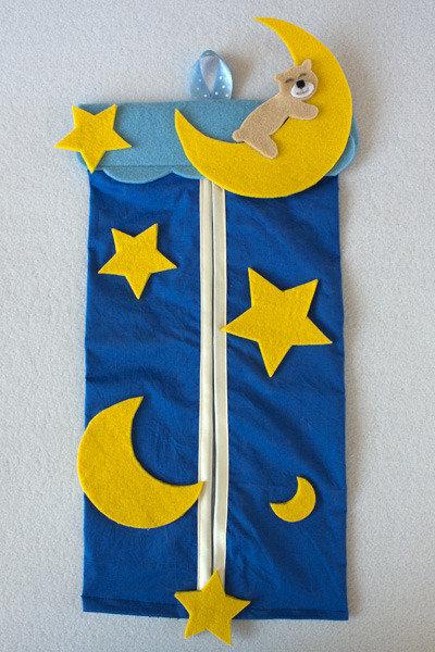 Porta pannolini luna e stelle