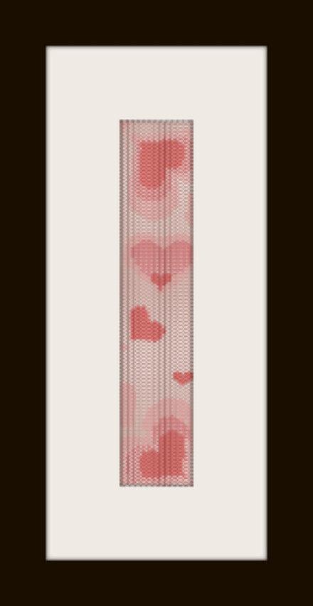 schema bracciale cuori in stitch peyote pattern - solo per uso personale