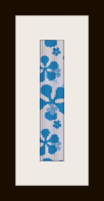 schema bracciale fiori blu in stitch peyote pattern - solo per uso personale