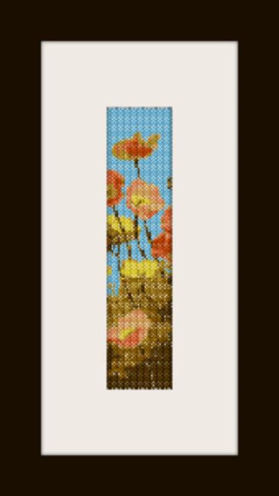 schema bracciale fiori di campo in stitch peyote pattern - solo per uso personale