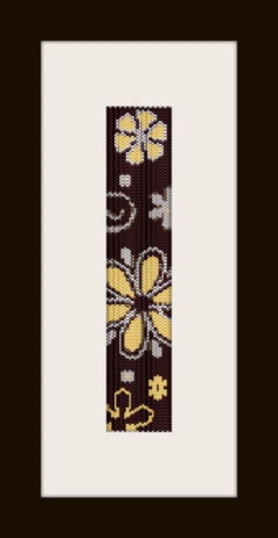schema bracciale fiori marroni in stitch peyote pattern - solo per uso personale