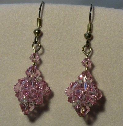 Orecchini pallina Swarovski color rosa