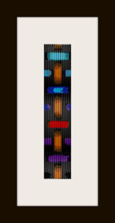 schema bracciale intreccio colorato in stitch peyote pattern - solo per uso personale
