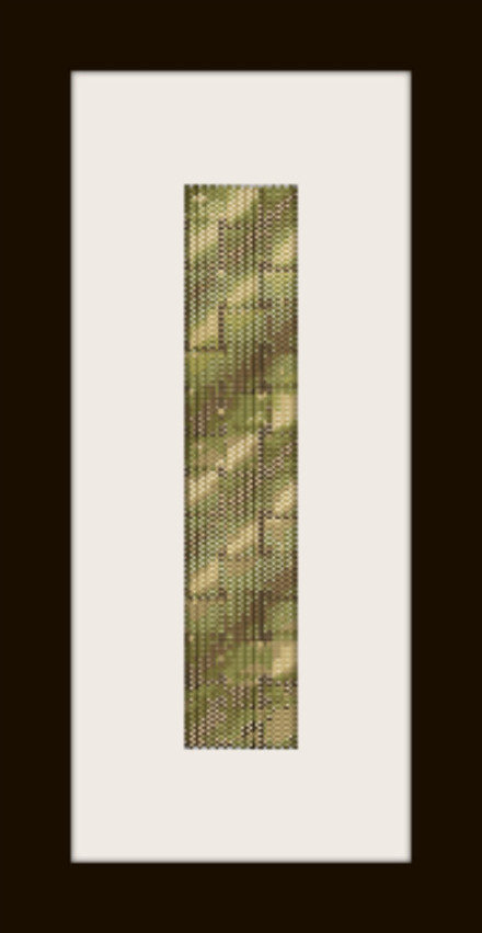 schema bracciale intreccio oro in stitch peyote pattern - solo per uso personale