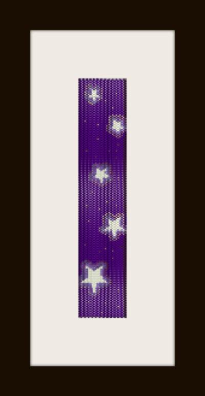 schema bracciale notte stellata in stitch peyote pattern - solo per uso personale