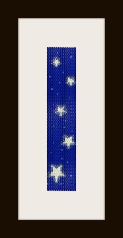 schema bracciale notte stellata 2 in stitch peyote pattern - solo per uso personale