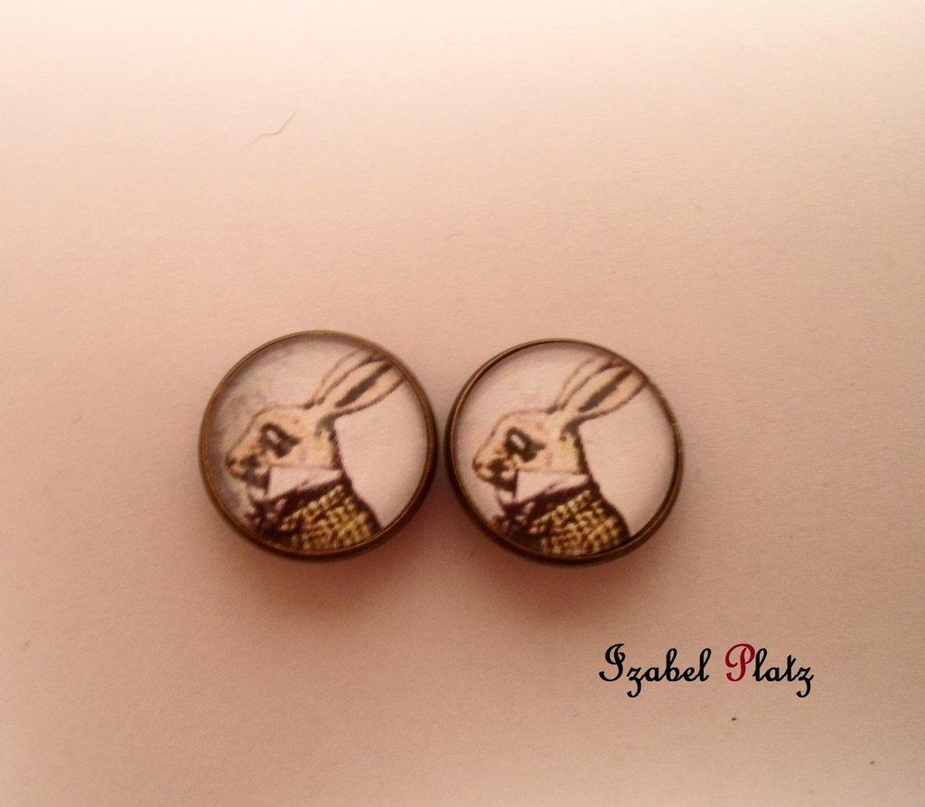 orecchini clip bianconiglio