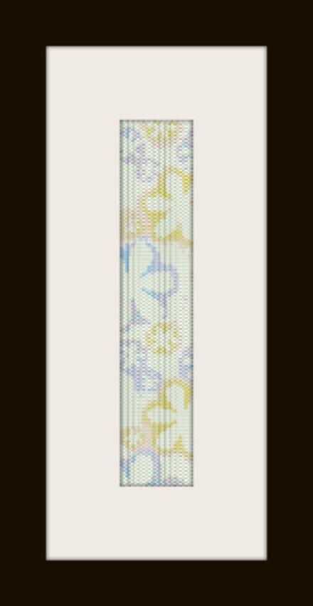 schema bracciale risalto di fiori in stitch peyote pattern - solo per uso personale