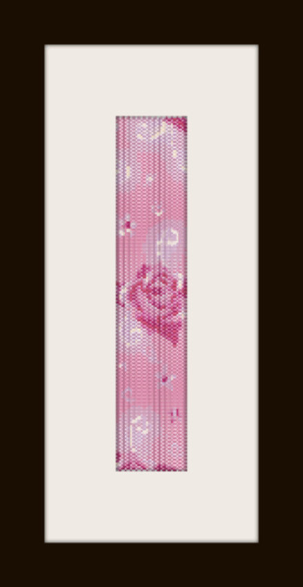 schema bracciale rosa chiara in stitch peyote pattern - solo per uso personale