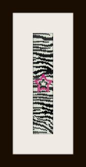 schema bracciale zebrato star in stitch peyote pattern - solo per uso personale