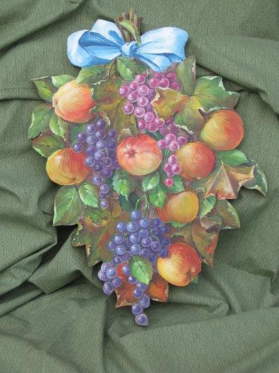 mele e uva dipinte