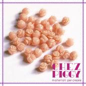 Coppia di perline a forma di rosa - ROSA