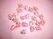 UN CHARMS  A SCELTA - MINI PEPPA PIG - fimo - charms per orecchini, braccialetti - idea regalo, feste compleanno