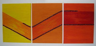 Giallo,arancio e rosso:trittico da appendere