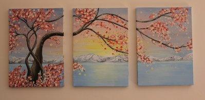 """olio su tela """"Sakura"""" dipinto a mano"""