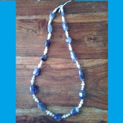Collana pietre azzurre