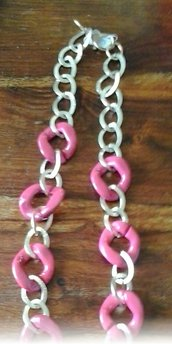 Collana lunga rosa