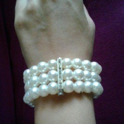 Bracciale finte perle