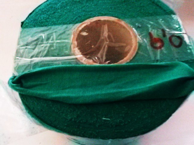 Fettuccia lycra pesante verde erba