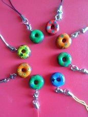 Ciondolo per cellulare donuts ciambelline glassate