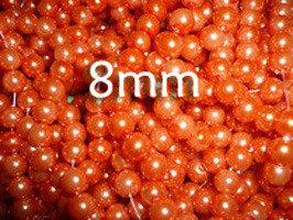 Lotto 15 perle vetro cerato ARANCIO 8mm