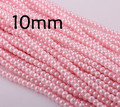 Lotto 10 perle vetro cerato ROSA 10mm