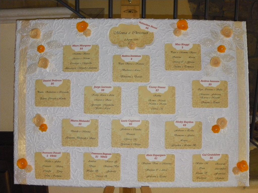 Tableau Matrimonio Girasoli : Tableau de mariage feste matrimonio di frakrea su