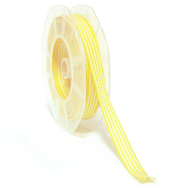 Nastro quadretti vichy giallo
