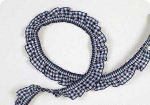 50 cm Ruche elastica a quadretti blu