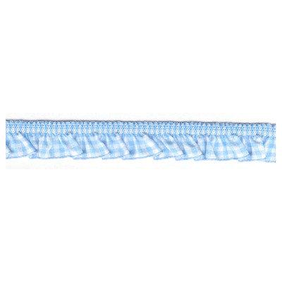 50 cm Ruche elastica a quadretti azzurro