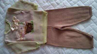 Completo maglioncino e pantalone in cotone