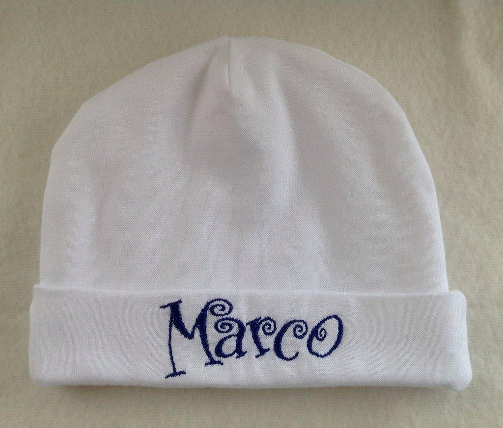 Cappello personalizzato con nome per bimbi 0-3 mesi