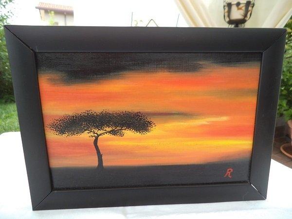 Quadro: tramonto in Africa