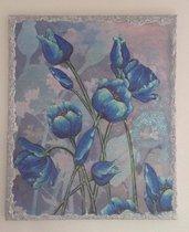 Quadro su tela Tulipani Azzurri