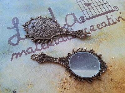 Ciondolo con specchietto, bronzo, mod.04