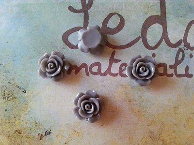 Cabochon rosa - colore grigio perla