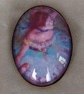 Spilla Cammeo in Vetro Ballerina di Degas