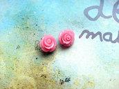 Rosellina con foro - colore rosa