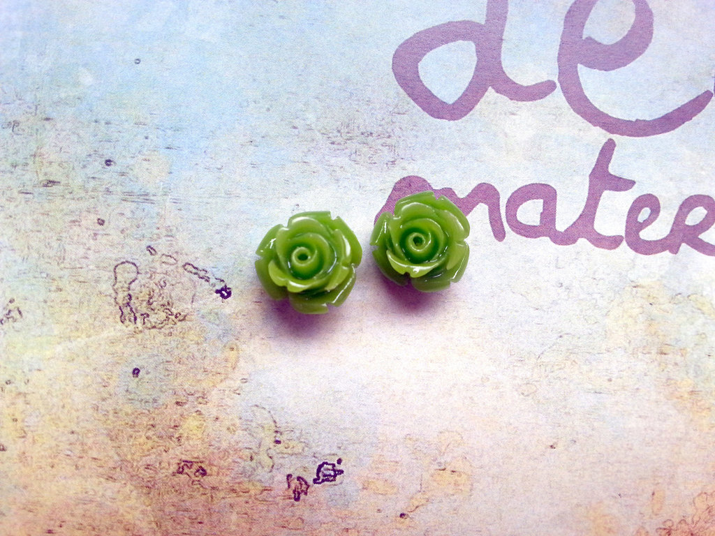 Rosellina con foro - colore verde chiaro
