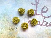 Rosellina con foro - colore verde